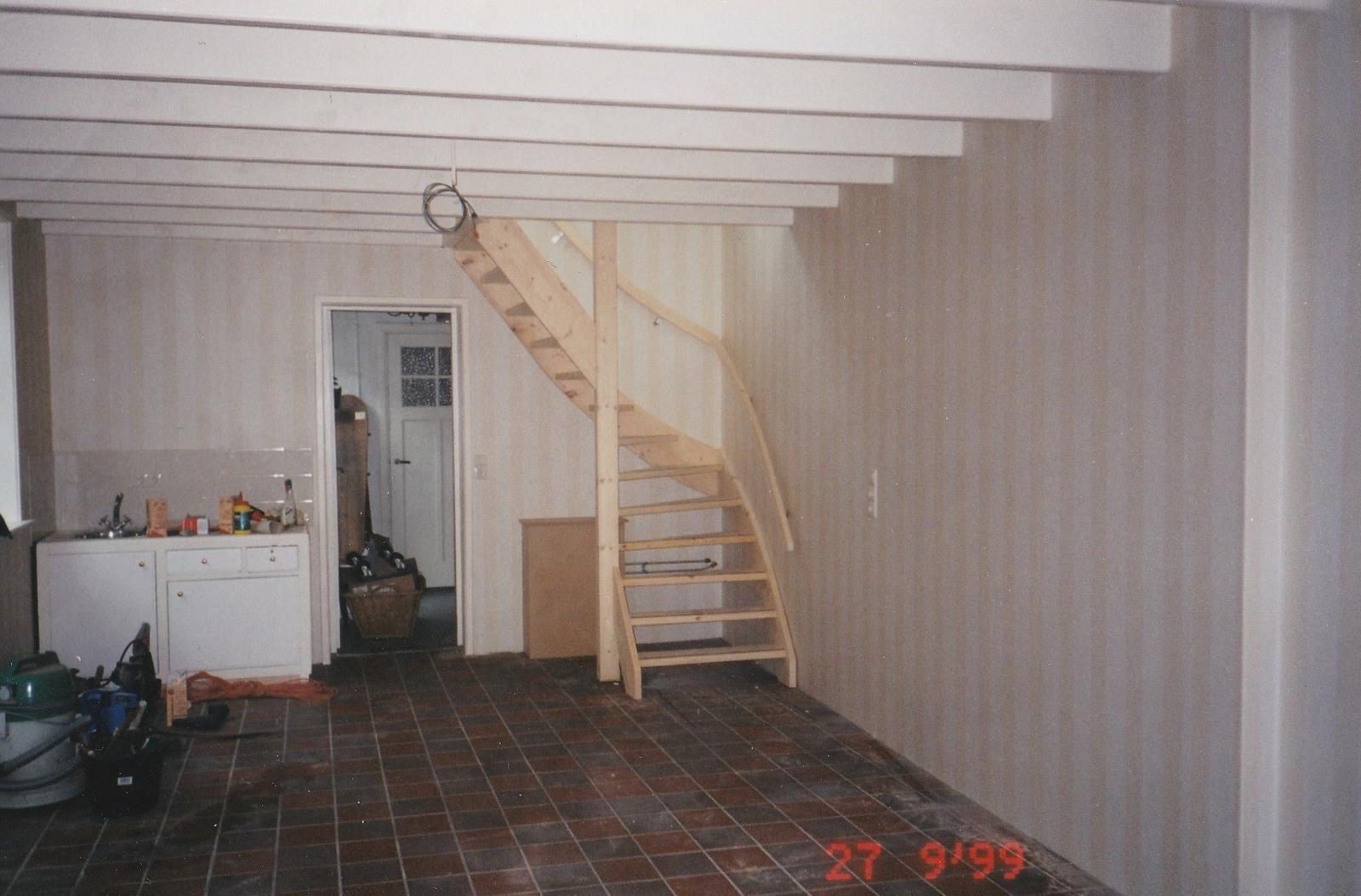 vuren houten trap