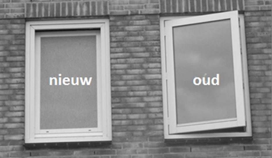 Nieuw raam in bestaand kozijn